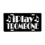 Trombone Music License Plate Gift