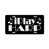Harp Music License Plate Gift