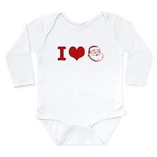 I Love Santa Long Sleeve Infant Bodysuit