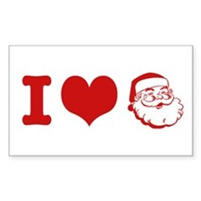 I Love Santa Decal