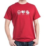 Peace Love Santa Dark T-Shirt
