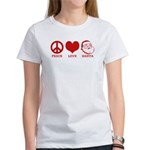 Peace Love Santa Women's T-Shirt