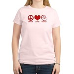 Peace Love Santa Women's Light T-Shirt
