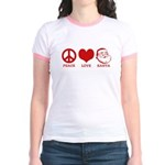 Peace Love Santa Jr. Ringer T-Shirt
