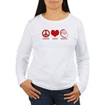 Peace Love Santa Women's Long Sleeve T-Shirt