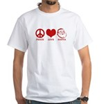 Peace Love Santa White T-Shirt