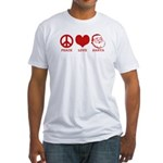 Peace Love Santa Fitted T-Shirt