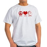 Peace Love Santa Light T-Shirt