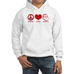 Peace Love Santa Hooded Sweatshirt