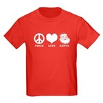 Peace Love Santa Kids Dark T-Shirt