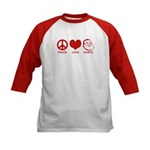 Peace Love Santa Kids Baseball Jersey
