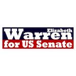 Elizabeth Warren for U.S. Senate bumper sticker