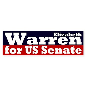 Re-Elect Elizabeth Warren to the U.S. Senate (bumper sticker)