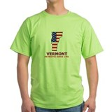 VT USA Flag Map 2 T-Shirt