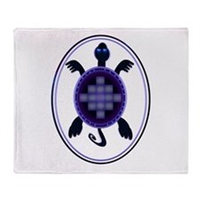 Courageous Turtle Throw Blanket