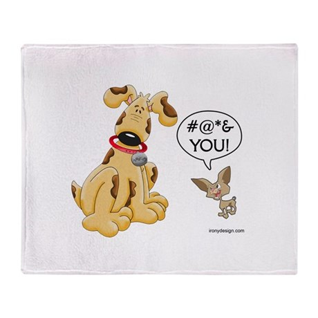 CHIHUAHUA ATTITUDE Throw Blanket
