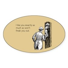 I Like You Sticker (Oval)