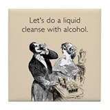 Alcohol Cleanse Tile Coaster