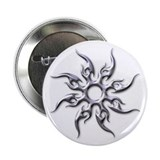 Tribal Sun (Chrome 3D) Button