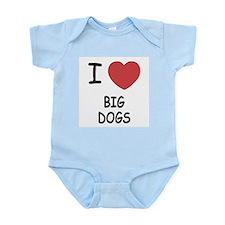 I heart big dogs Infant Bodysuit