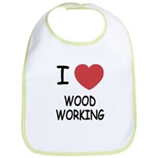I heart wood working Bib
