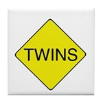 Twins Sign Tile Coaster