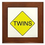 Twins Sign Framed Tile