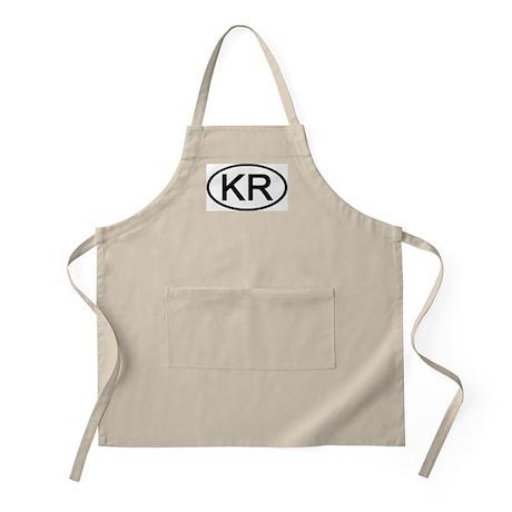KR - Initial Oval BBQ Apron