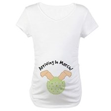 March Due Date Belly Print Maternity Tee