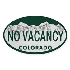 No Vacancy Colo License Plate Decal