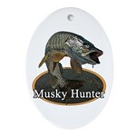 Musky, 6 Ornament (Oval)