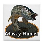 Musky, 6 Tile Coaster
