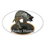 Musky, 6 Sticker (Oval 10 pk)