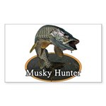 Musky, 6 Sticker (Rectangle 10 pk)