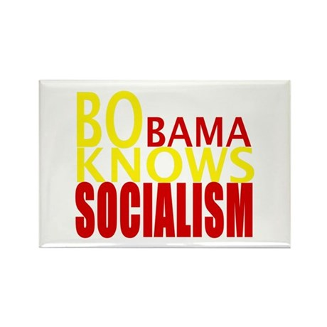 Barack Obama Knows Socialism Rectangle Magnet