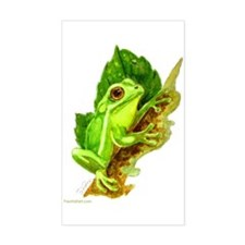 "Rectangle Sticker ""Green Tree Frog"""