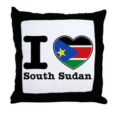I love South Sudan Throw Pillow