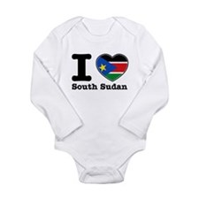 I love South Sudan Long Sleeve Infant Bodysuit