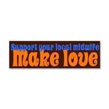 Make Love - Car Magnet 10 x 3