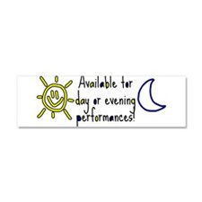 Available AM/PM - Car Magnet 10 x 3
