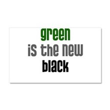 Green is the New Black - Car Magnet 20 x 12