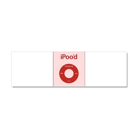I'Pood Red Car Magnet 10 x 3
