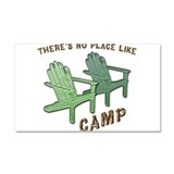 No Place Like Camp - Car Magnet 20 x 12
