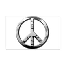 Chrome Peace - Car Magnet 20 x 12