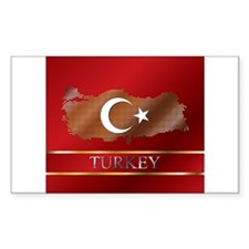Turkey Map and Turkish Flag Decal