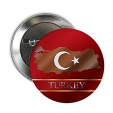 "Turkey Map and Turkish Flag 2.25"" Button"