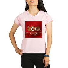 Turkey Map and Turkish Flag Performance Dry T-Shir