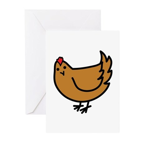 Cute Chicken Greeting Cards (Pk of 10)