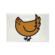 Cute Chicken Rectangle Magnet (100 pack)