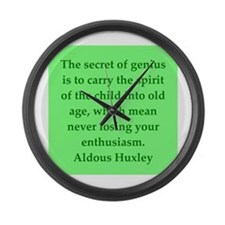 aldous huxley quotes Large Wall Clock